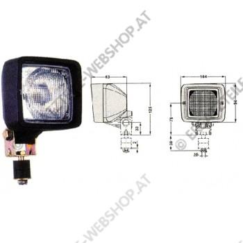 Arbeitsscheinwerfer Gummigehäuse drehbar 12-24V