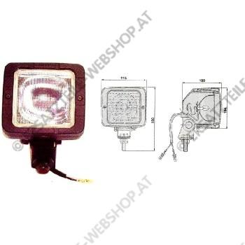 Arbeitsscheinwerfer Gummigehäuse rechteckig für E-Stapler