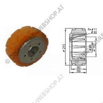 Antriebsrad VU Durchmesser 215 mm