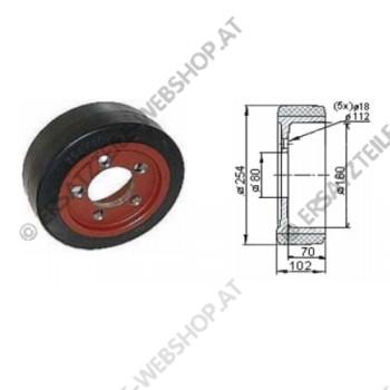 Antriebsrad GU Durchmesser 254 mm