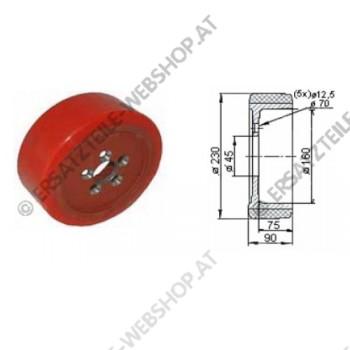 Antriebsrad PU Durchmesser 230 mm