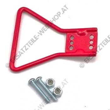 Akku Stecker  Griff Metal    rot