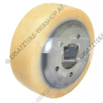 Antriebsrad 215 x 80mm, material: tractothaan - bessere haftung vor allem auf nassem untergrund