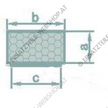 Moosgummi vierkant profil  10x30mm