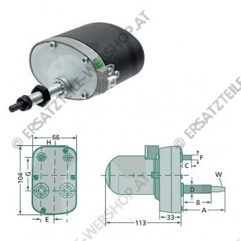 Wischermotor 120gr 65-45mm